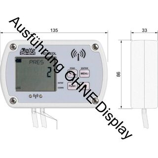Delta Ohm HD35ED4r2TV Differenz-Druck -10hPa (mbar) bis +10hPa (mbar) intern